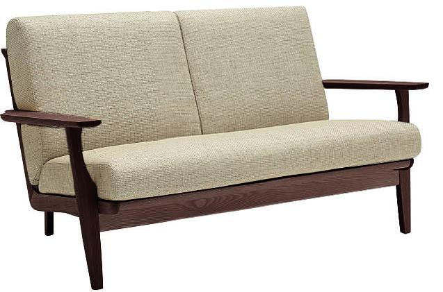カリモク WU6112 2Pソファ 布張り張り 二人掛け椅子ロング 木製肘掛ソファ 本革仕様にも ファブリックフルカバーリング おすすめ おしゃれ 人気 karimoku 日本製家具 正規取扱店