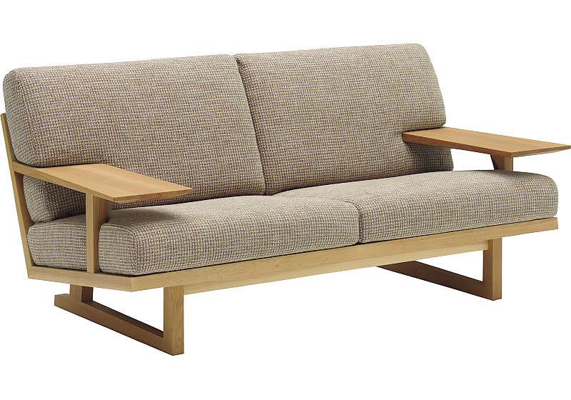 カリモク WU4712 2Pソファ 平織布張 二人掛け椅子ロング 木製肘掛ソファ ファブリックフルカバーリング おすすめ おしゃれ 人気 karimoku 日本製家具 正規取扱店