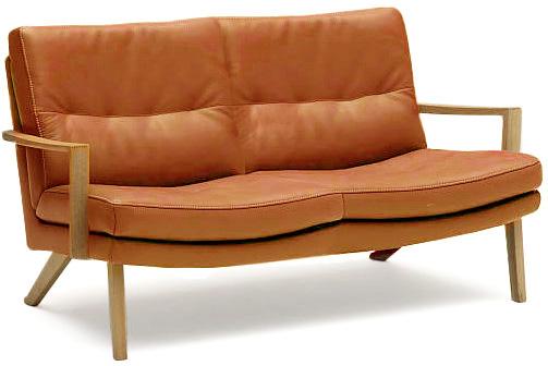 カリモク ZU1602 2Pソファ 本革張レザーソファ 肘掛ソファ 二人掛け椅子 ラブソファ フィットするコンパクトモデル おすすめ おしゃれ 人気 karimoku 日本製家具 正規取扱店