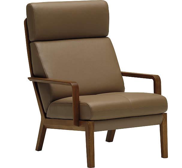 カリモク WU4600 1Pソファ 本革張ソファ 肘掛椅子 一人掛け パーソナルソファー ハイバック レザー おすすめ おしゃれ 人気 karimoku 日本製家具 正規取扱店