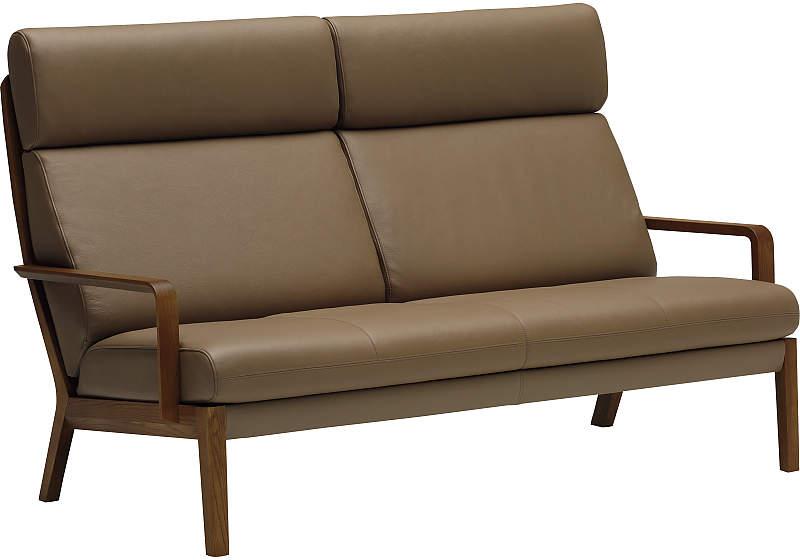カリモク WU4612 2Pソファ 本革張ソファ 肘掛椅子 二人掛け ラブソファー ハイバック レザー おすすめ おしゃれ 人気 karimoku 日本製家具 正規取扱店