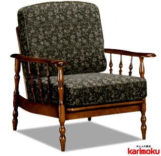 カリモク WC6000 肘掛け椅子 1P一人掛けソファ 布張り花柄カントリー調 コロニアル おすすめ おしゃれ 人気 karimoku 日本製家具 正規取扱店