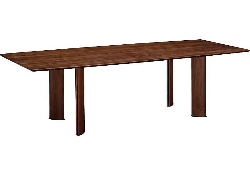 カリモク DE6210XR 240cmダイニングテーブル 食卓テーブル 配膳台 食事机 ウォールナット材 栗木材 送料無料 karimoku 日本製家具 正規取扱店 テーブルのみ