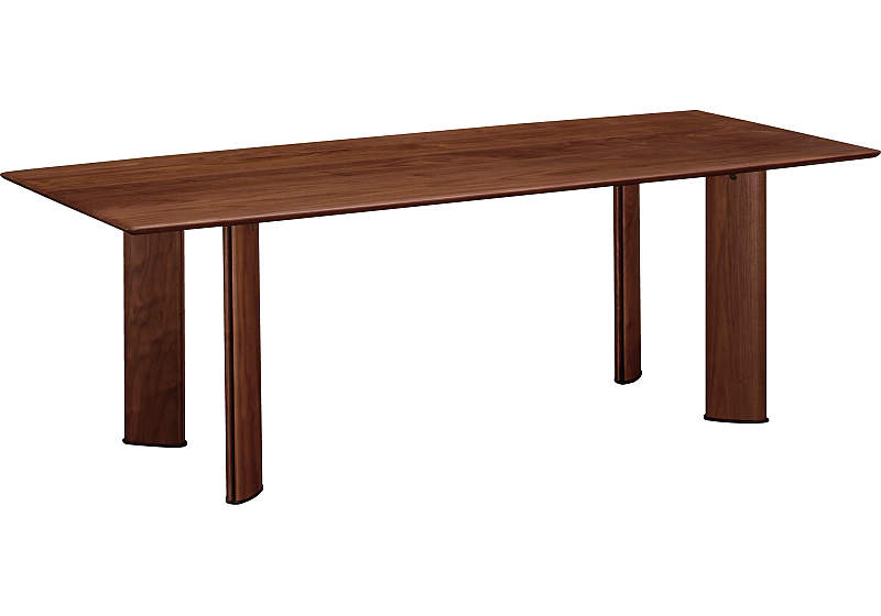 カリモク DE6110XR 200cmダイニングテーブル 食卓テーブル 配膳台 食事机 ウォールナット材 栗木材 送料無料 karimoku 日本製家具 正規取扱店 テーブルのみ