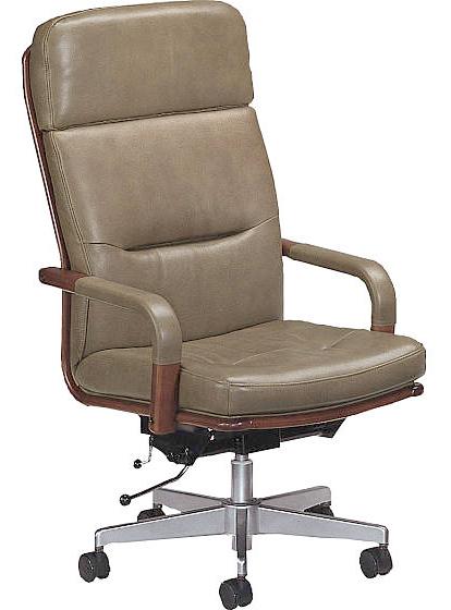 カリモク XS0520QW PCチェア デスクチェアー 牛革張チェア パソコン椅子 ロッキング式 アイアン コンパクト 事務椅子オフィスチェア ハイバック オリーブ色 おすすめ おしゃれ OAチェア 送料無料 karimoku 日本製家具 正規取扱店
