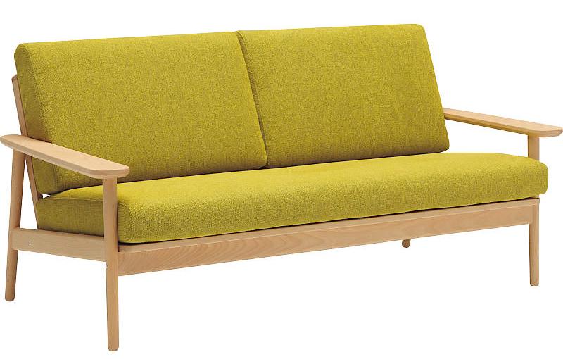 カリモクWD4333 WD4303 3Pソファ 平織布張三人掛け椅子 肘掛クッション トリプルチェア ファブリックフルカバーリング 送料無料 おすすめ おしゃれ 人気 日本製家具 正規取扱店