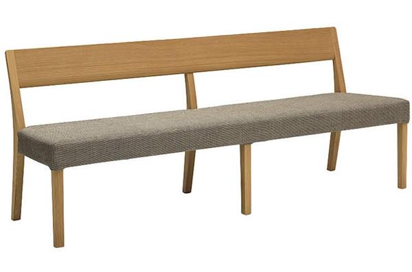 カリモクCU4714 180ベンチ 三人掛け食堂椅子 食卓椅子 ダイニングチェア カバーリング 背もたれ 合成皮革・布張り オーク・ナラ・楢 送料無料 日本製家具 正規取扱店 木製 単品 バラ売り