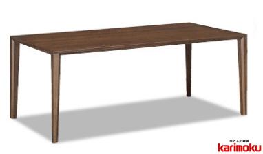 カリモク DT8411 135cmダイニングテーブル 食卓テーブル 配膳台 食事机 オーク材 楢材 ナラ 送料無料 karimoku 日本製家具 正規取扱店 テーブルのみ
