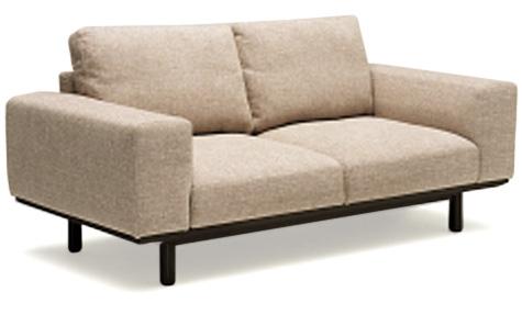 カリモク UU2212 2Pソファ 布張りラブソファー 二人掛椅子ロング ファブリック ナチュラル かわいい おすすめ おしゃれ 人気 karimoku 日本製家具 正規取扱店