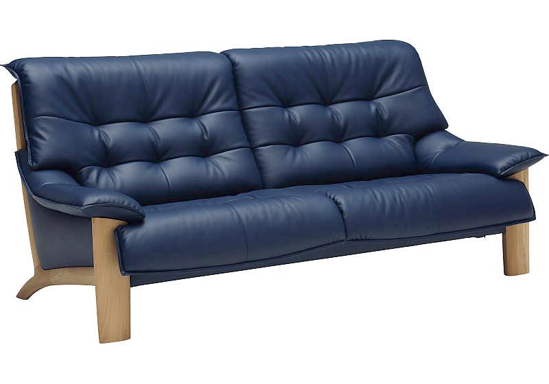 カリモクZU49モデル ZU4903 3Pソファ 本革張レザーソファ 肘掛ソファ トリプルチェア 3人掛け長椅子 送料無料 おすすめ おしゃれ 人気 日本製家具 正規取扱店