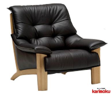 カリモク ZU49モデル ZU4900 1Pソファ 本革張レザーソファ 肘掛ソファ パーソナルチェア 一人掛け椅子 送料無料 おすすめ おしゃれ 人気 karimoku 日本製家具 正規取扱店