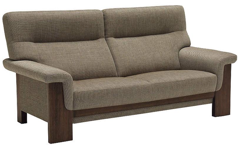 カリモク UU7922 2人掛け椅子ロング 2P布張りソファ ファブリック 肘掛椅子 張り込みタイプ ハイバック ラブソファ おすすめ おしゃれ 人気 karimoku 日本製家具 正規取扱店 オーク材