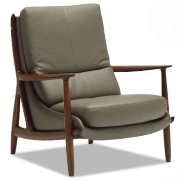 カリモクWW3600 1Pソファ 本革張ハイバックソファ 肘掛椅子 一人掛け パーソナルソファー レザー 送料無料 おすすめ おしゃれ 人気 背面きれい 日本製家具 正規取扱店