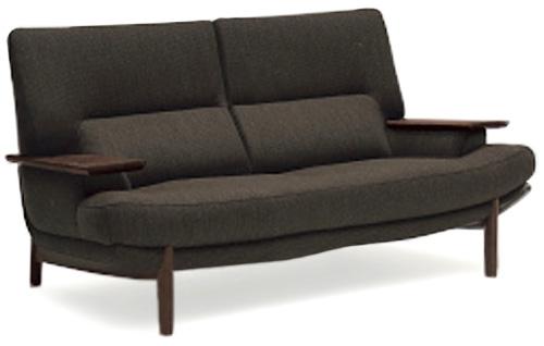 カリモク UU25B2 2人掛け椅子ロング 2P布張りソファ 肘掛椅子 ハイバック ラブソファ おすすめ おしゃれ 人気 karimoku 日本製家具 正規取扱店 北欧風 かっこいい