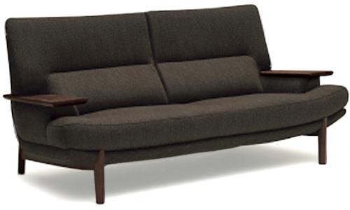 カリモク UU25A3 3人掛け椅子 3P布張りソファ 肘掛椅子 ハイバック トリプルソファ おすすめ おしゃれ 人気 karimoku 日本製家具 正規取扱店 北欧風 かっこいい