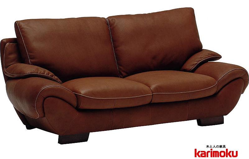 カリモク 最高級ソファ ZS9703WK 2Pソファ 本革張ソファ 肘掛長椅子 トリプルソファ セレブ スイートルームなどで karimoku 日本製家具 正規取扱店