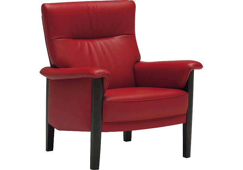 カリモク ZW3700モデル 1人肘掛椅子 1Pソファ 本革張肘掛 一人掛け パーソナルソファー ハイバック レザー 赤いソファ レッド 送料無料 おすすめ おしゃれ 人気 karimoku 日本製家具 正規取扱店