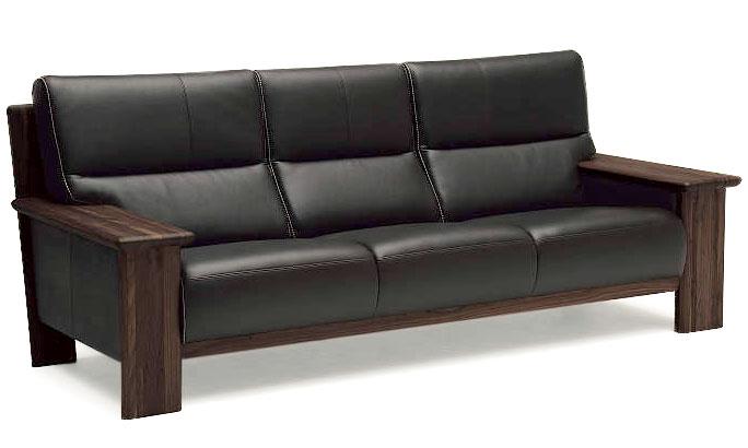 カリモク ZU48B3 3Pソファ W218本革張ソファ 長椅子ロング 平板タイプ 肘掛ソファ トリプルチェア 3人掛け椅子 ハイバック おすすめ おしゃれ 人気 karimoku 日本製家具 正規取扱店
