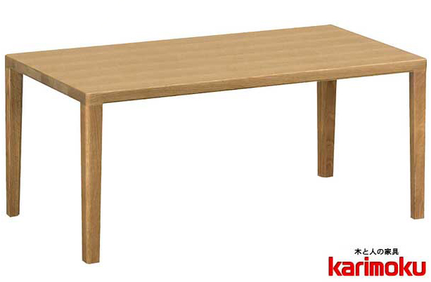 カリモク TU3440 長方形90サイズ センターテーブル ソファーテーブル 机 シンプル ダーク ブラウン ナチュラル グレー ホワイト白 ブラック黒 送料無料 karimoku 日本製家具 正規取扱店 オーク材 木製ナラ