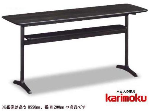 カリモク TW4100 リビング机 ソファーサイドテーブル 机 シンプル 送料無料 karimoku 日本製家具 正規取扱店 オーク材 木製ナラ