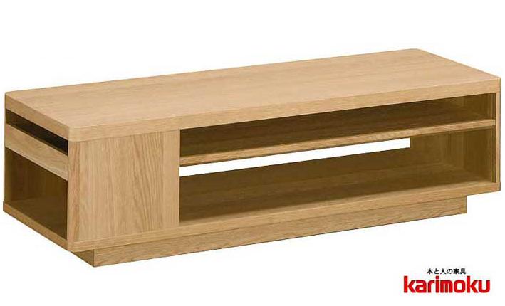 カリモクTT4073 長方形120サイズ センターテーブル ソファーテーブル 机 シンプル ダーク ブラウン ナチュラル グレー ホワイト白 ブラック黒 送料無料 日本製家具 正規取扱店 木製