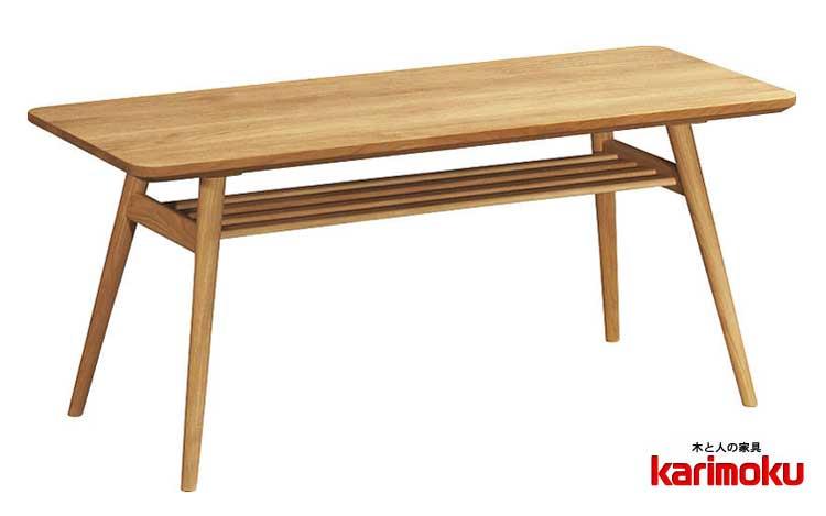 カリモク TD3611 長方形105サイズ センターテーブル ソファーテーブル 机 シンプル オーク材 karimoku 日本製家具 木製