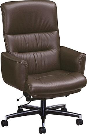 カリモク XS1300DB ブラウン茶色 PCチェア デスクチェアー 牛革張チェア キャスター付き パソコン椅子 ロッキング式 アイアン コンパクト 高級オフィスチェア 送料無料 karimoku 日本製家具 正規取扱店 おすすめ おしゃれ OAチェア 社長・役員椅子 ハイバック