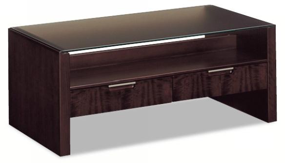 カリモクTE4300ND 110サイズ センターテーブル ソファーテーブル 机 シンプル 引出付き ガラス 送料無料 日本製家具 正規取扱店 木製