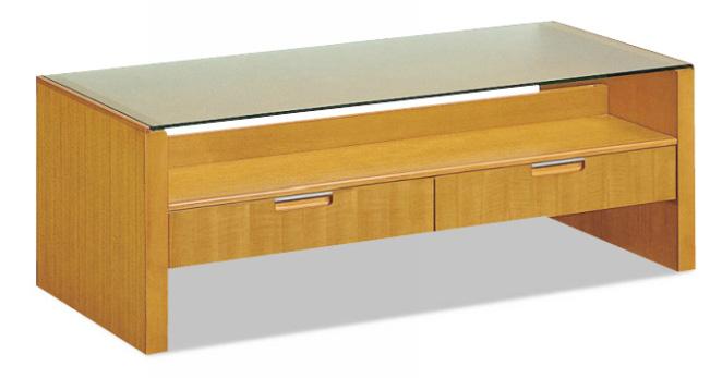 カリモクTE4300NU 110サイズ センターテーブル ソファーテーブル 机 シンプル 引出付き ガラス 送料無料 日本製家具 正規取扱店 木製
