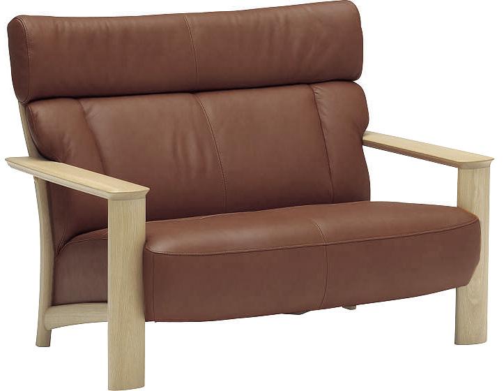 カリモク WT4112 2Pソファ 本革張レザーソファ 肘掛ソファ ラブチェア 2人掛け椅子ロング フィットするコンパクトモデル 送料無料 おすすめ おしゃれ 人気 karimoku 日本製家具 正規取扱店