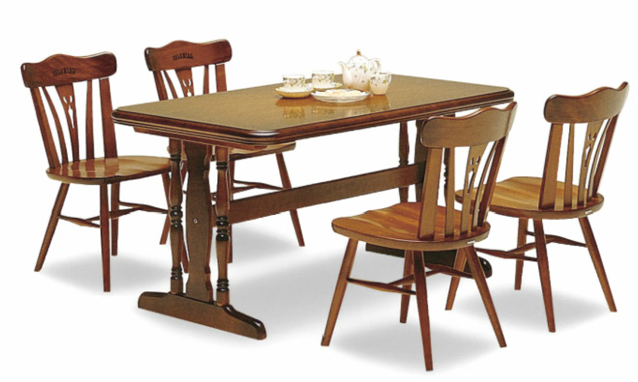 カリモク CC18 コロニアルシリーズ 135サイズダイニング5点セット 食堂テーブル 食卓和風モダンセット カントリー調 コンパクト karimoku 日本製