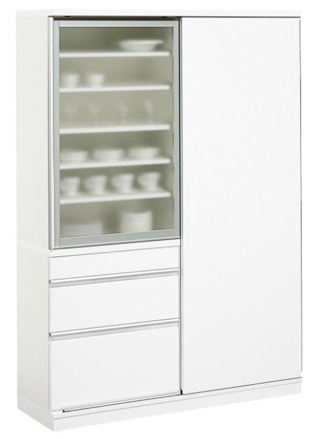 カリモク EA4560HH 食器棚 135キッチンボード ダイニングボード ホワイト カップケース kitchit S キチット・エス 皿収納 設置送料無料 karimoku 日本製家具 正規取扱店