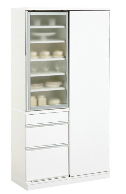カリモク EA3560HH 食器棚 100キッチンボード ダイニングボード ホワイト カップケース 皿収納 設置送料無料 karimoku 日本製家具 正規取扱店