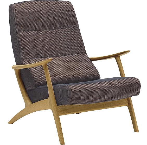 カリモク WU6000 一人掛け椅子 1P布ファブリック 肘掛椅子 ハイバックチェア パーソナルソファ ブナ karimoku 日本製家具 正規取扱店 かっこいい クール デザイナーズ風 北欧風