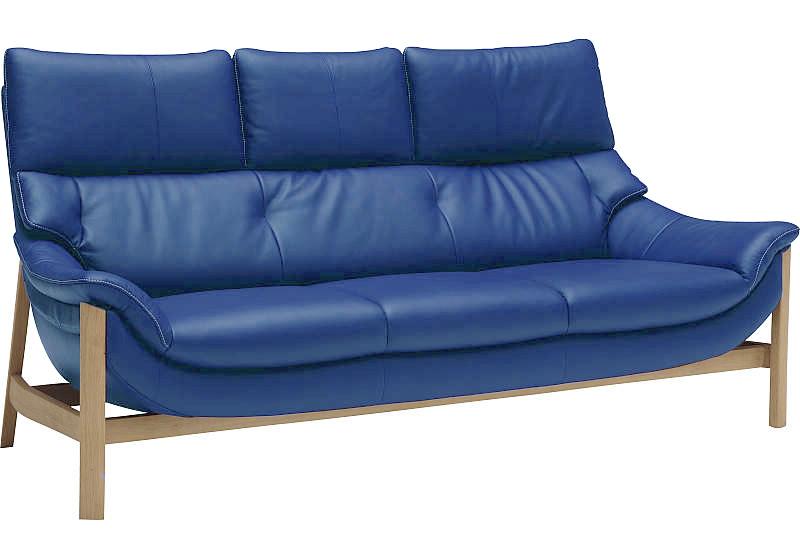 カリモク ZU62モデル ZU6203ME 三人掛け長椅子 3P本革ソファ 肘掛椅子 ハイバック トリプルソファ 北欧風 背面キレイ かっこいい 送料無料 おすすめ おしゃれ 人気 karimoku 日本製家具 正規取扱店