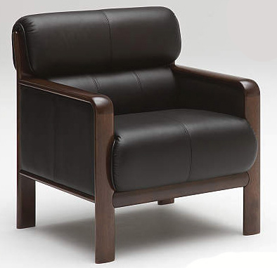 カリモク WS2980BD 肘掛椅子1Pソファブラック 本革張チェア ビンテージ風 レトロ 古風 コンパクト 会議室・応接室腰掛 おすすめ おしゃれ 人気 karimoku 日本製家具 正規取扱店