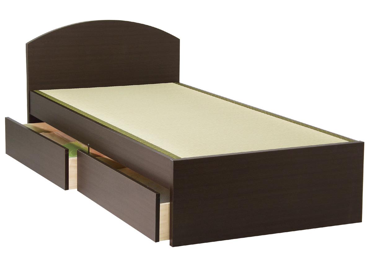 セブンベッド モネ フラット 引き出し ドロアーシングル シンプル タタミベッド たたみ 畳ベッド ライト ダーク 日本製家具 送料無料 フレームのみ