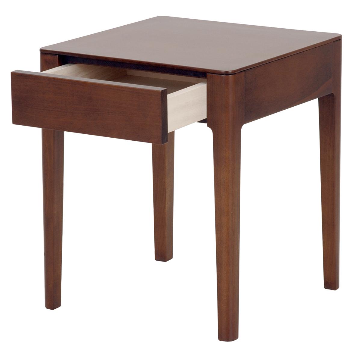 日本ベッド nt-61314 ブラウン ナイトテーブル シンプル ソムノシリーズ