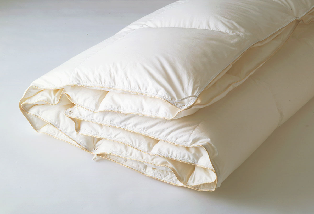 日本ベッド プレミアムデュアルフォーター95羽毛布団 オールシーズン 羽毛ふとん 温かい コンフォーター掛け布団 シングル ダウンキルト