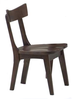 ナチュラル天然木使用カスガ肘無しダイニングチェア 春日 食卓椅子 木製無垢 送料無料 タモ材 ばら売り
