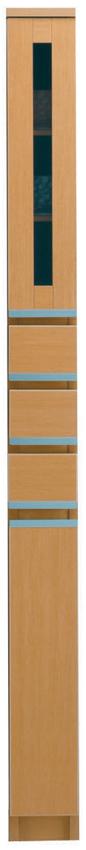 【15cm幅】ガラス戸 ピッタリ置ける スペース棚 本棚 すき間 メープル 隙間 スキマ 引き出し付き スペースボード15C 日本製 送料無料