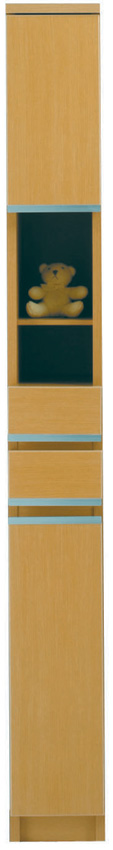 【20cm幅】オープン ピッタリ置ける スペース棚 本棚 すき間 メープル 隙間 スキマ 引き出し付き スペースボード20A 日本製 送料無料