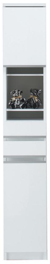 【30cm幅】オープン ピッタリ置ける スペース棚 本棚 すき間 ホワイト 隙間 スキマ 引き出し付き スペースボード30A 日本製 送料無料