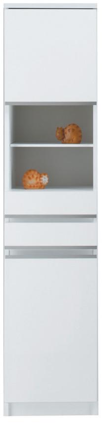 【40cm幅】オープン ピッタリ置ける スペース棚 本棚 すき間棚 ホワイト 隙間 スキマ 引き出し付き スペースボード40A 日本製家具 送料無料