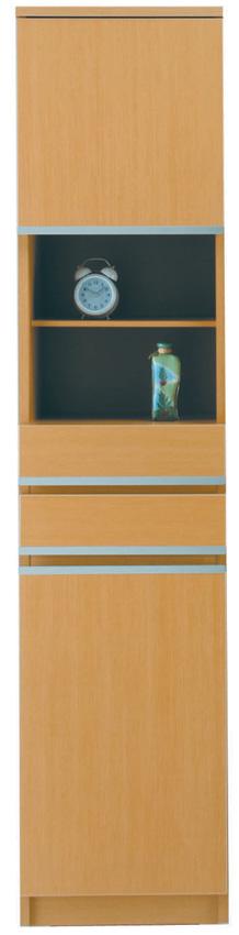 【40cm幅】オープン ピッタリ置ける スペース棚 本棚 すき間棚 メープル 隙間 スキマ 引き出し付き スペースボード40A 日本製家具 送料無料
