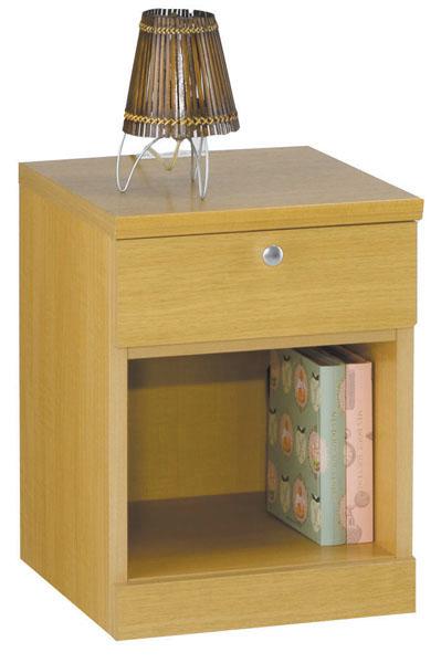 ルナB フラップ扉タイプ ナイトテーブル ナチュラル色 サイドテーブル ベッドテーブル