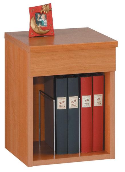 ルナD 天板開閉式机 ナイトテーブル ナチュラル色 サイドテーブル ベッドテーブル
