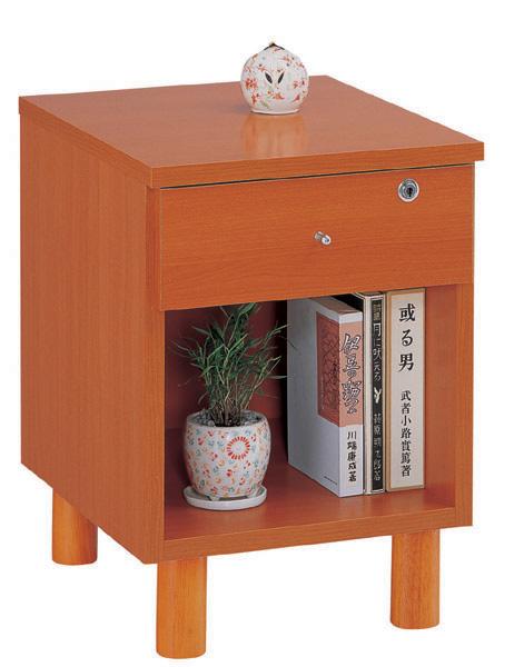 三ツ葉楽器 35Aナイトテーブル サイドテーブル ベッドテーブル カギ付き 送料無料 日本製