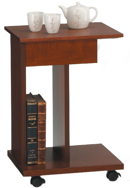 マキシムサイドテーブル38 アンティーク調ブラウン シンプル ベーシック ワゴン 三つ葉楽器 日本製 送料無料