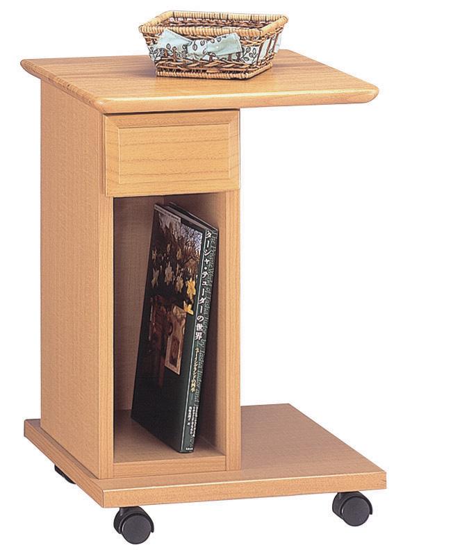 ティーブレイク サイドテーブル シンプル キャスター付き ベーシック ワゴン 三つ葉楽器 日本製 送料無料